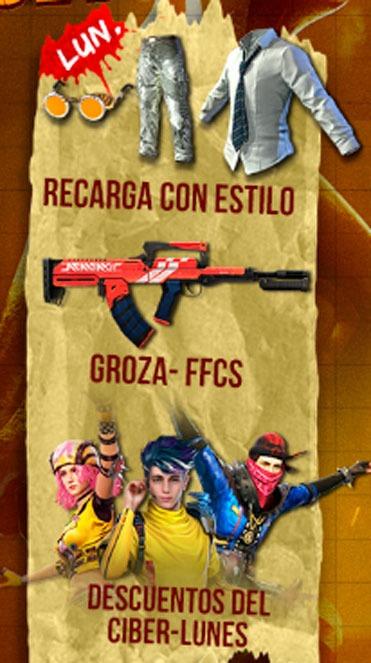 agenda semanal free fire 24/11 dia lunes
