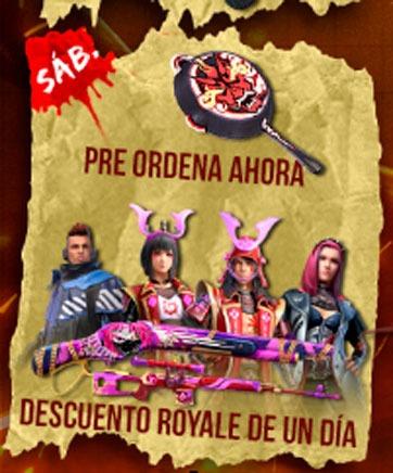 agenda semanal free fire 24/11 dia sabado