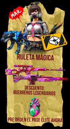 Agenda Semanal Free Fire 22/12 martes