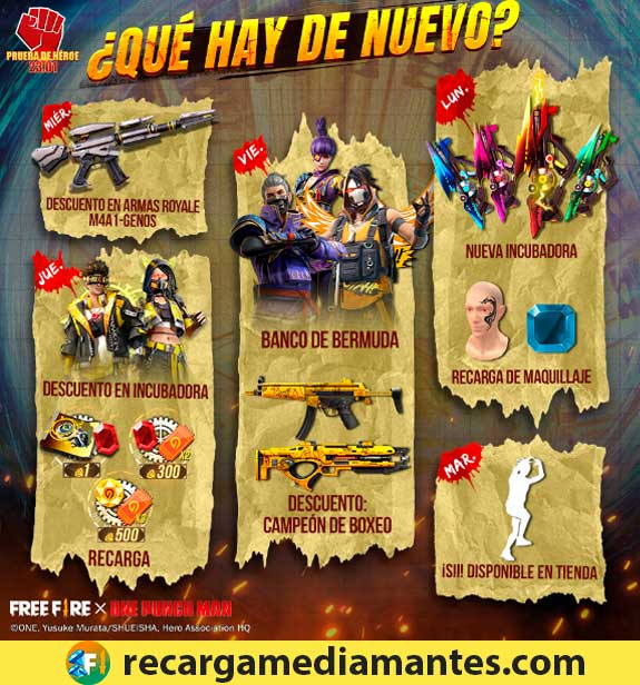 Agenda Semanal Free Fire 12/01