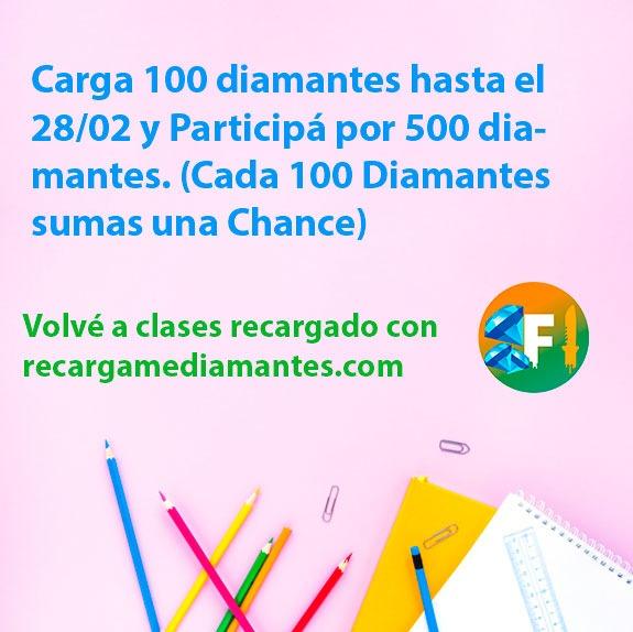 Sorteo recargamediamantes.com diamantes gratis