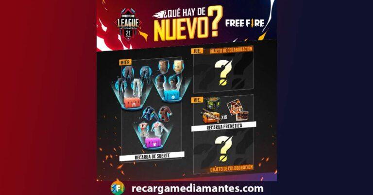 Agenda Semanal Free Fire 16/03