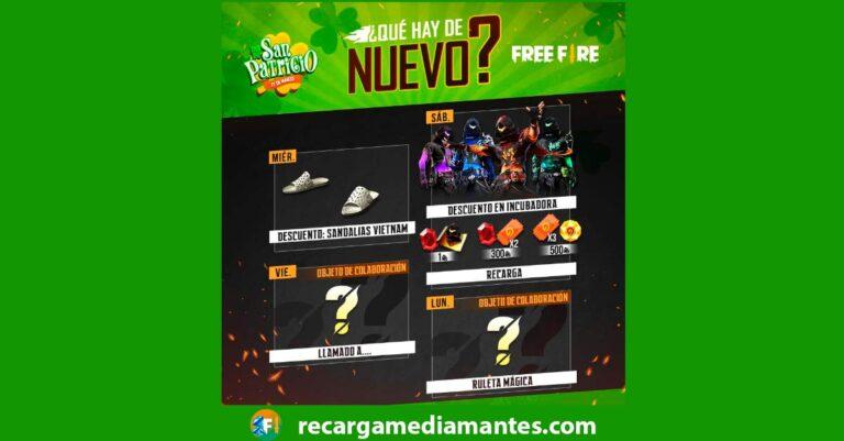 Agenda Semanal Free Fire 09/03