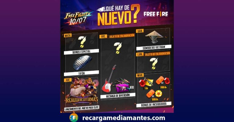 Agenda Semanal Free Fire 29/06